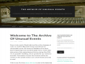 The Archive of Unusual Events